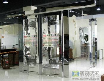 镜面不锈钢自动门货淋室